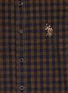 U.S. Polo Assn.  Desenli Hardal Erkek Çocuk Gömlek