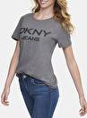 Dkny Jeans Bisiklet Yaka Logolu T-Shirt
