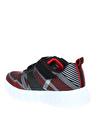 Skechers 90543L Flex-Glow Siyah - Kırmızı Erkek Çocuk Yürüyüş Ayakkabısı