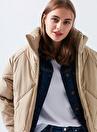 Mavi 110802-32215 Ceket Yaka  Normal Bej Kadın Mont