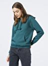 Mavi 167299-34935 Kapüşonlu  Rahat Koyu Yeşil Kadın Sweatshirt
