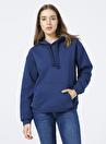 Mavi 167299-34665 Kapüşonlu  Rahat Mavi Kadın Sweatshirt