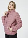 Skechers S212273-620 W Essential    Kırmızı O Yaka Kadın Şişme Mont