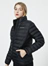 Skechers S212273-001 W Essential    Siyah O Yaka Kadın Şişme Mont