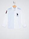 U.S. Polo Assn.  Çizgili Bej Erkek Çocuk Gömlek