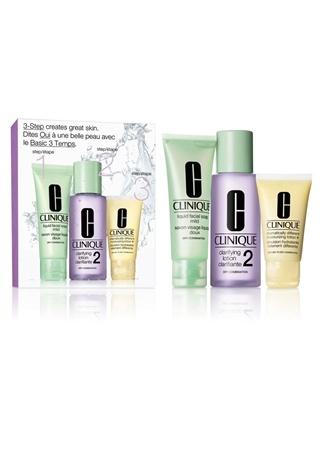 3 Step Skin Type 2 intro Cilt Bakım Seti Clinique