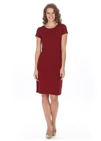 Dizüstü Kısa Kollu Elbise Asymmetry