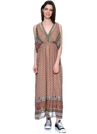Etnik Desenli Uzun Elbise CHERRY PARIS