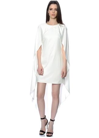 Asimetrik Şal Kollu Mini Elbise LAVISH ALICE