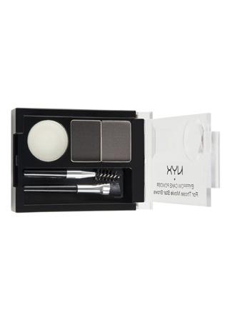 Professional Makeup Eyebrow Cake Powder Black/gray Pudra NYX