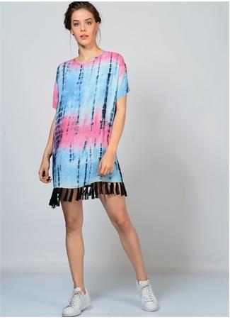 Batik Efektli Yazlık Elbise LITTLE WHITE LIES