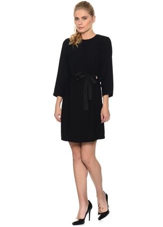 Siyah Belden Kuşaklı Elbise HOUSE OF CAMELLİA