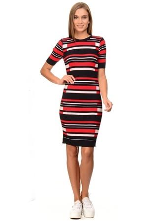 Limon Company Kırmızı Geometrik Desenli Elbise
