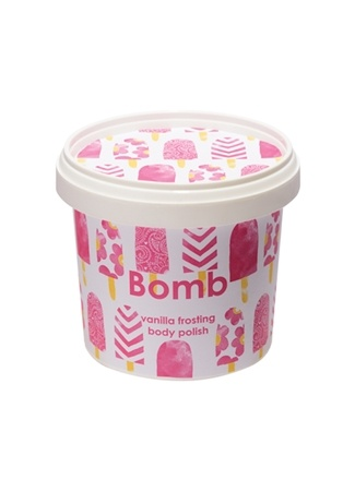 Vanilla Frosting Vücut Scrub Vücut Peelingi Bomb Cosmetics