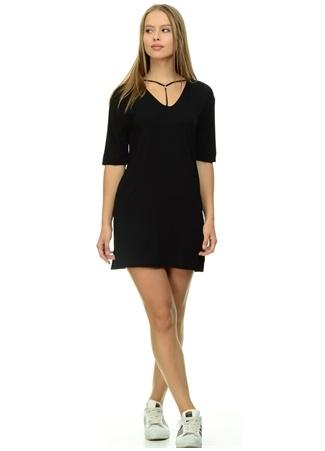 Siyah Mini Elbise Missguided