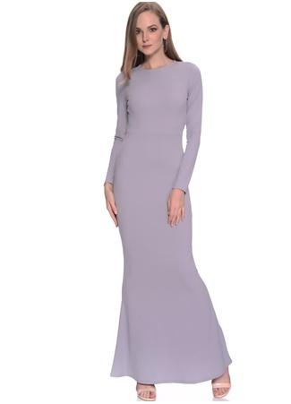 Missguided Uzun Kollu Sırt Dekolteli Elbise