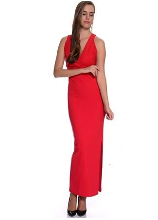 Kırmızı Sırt Dekolteli Elbise Missguided