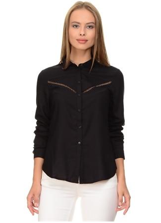 Siyah Gögüs Detaylı Gömlek Vero Moda