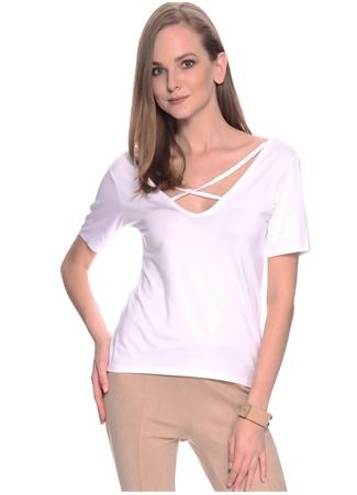Çapraz İp Yakalı T-Shirt Missguided