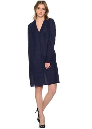 Beymen Studio Lacivert - Siyah Düğme Detaylı Elbise