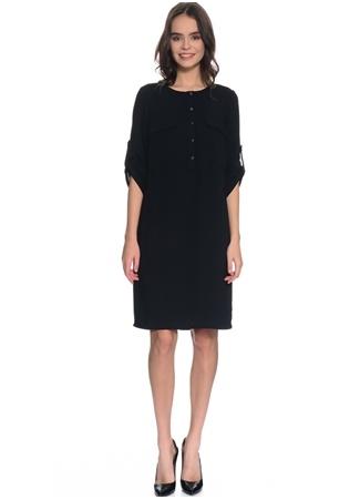 Naramaxx Çift Cepli Kolu Katlamalı Elbise