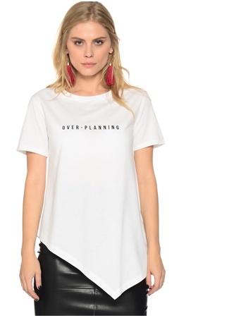 Shana Beyaz Baskılı T-Shirt