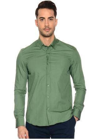 Yeşil Düğmeli Yaka Gömlek Limon Company