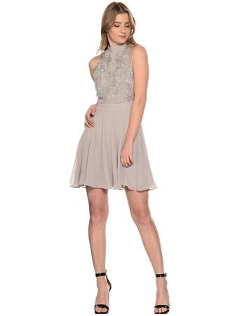 Lipsy Gümüş Pul Detaylı Elbise