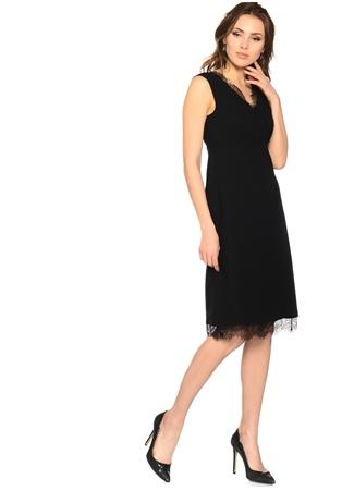 Siyah Dantel Detaylı Elbise HOUSE OF CAMELLİA