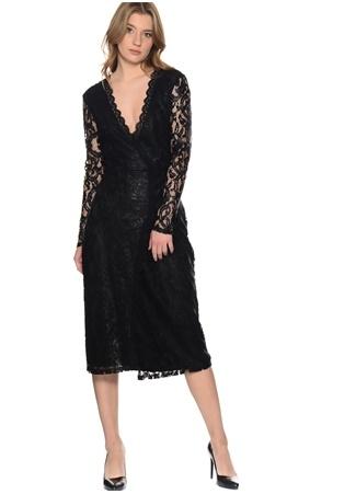 Vero Moda Siyah Dantel Detaylı Elbise