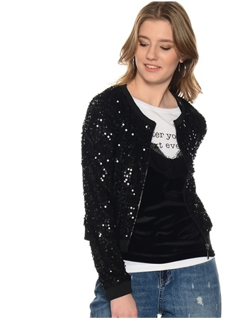 Siyah Pullu Ceket