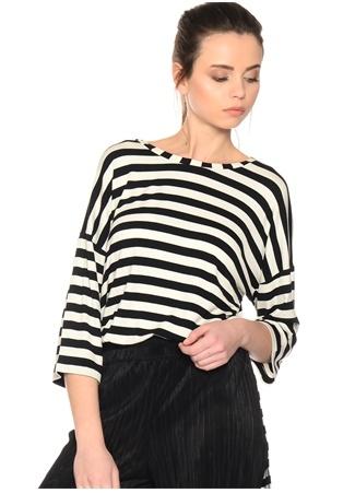 Siyah - Beyaz Çizgili T-Shirt BLACK PEPPER