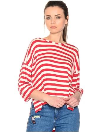 Kırmızı - Beyaz Çizgili T-Shirt BLACK PEPPER