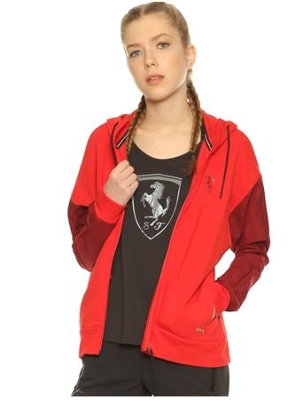 Puma Kırmızı Kapüşonlu Yaka Sweatshirt Reebok