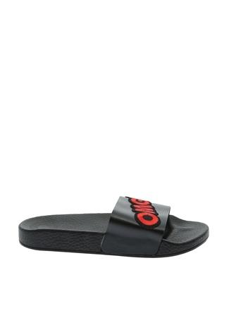 Frisbees Siyah Yazılı Terlik Ayakkabı