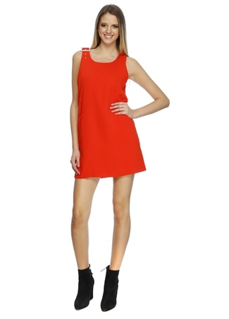 Cubic Omuz Detaylı Elbise