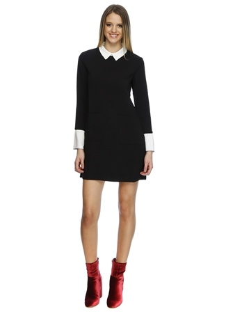 Cubic Gömlek Yaka Elbise
